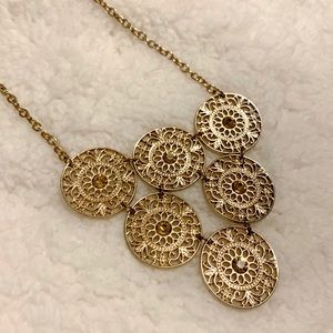 Express Gold Statement Necklace